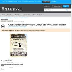 Plus d'Avortements Boucherie La Méthode Karman Vers 1960 DES FEMMES Pour le droit d'Avoir les enf