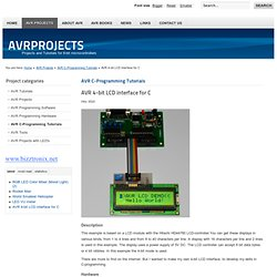 AVR 4-bit LCD interface for C