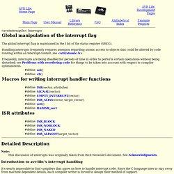 avr-libc: <avr/interrupt.h>: Interrupts