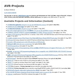 AVR projects and AVR Butterfly gcc port