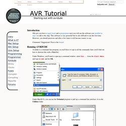 AVR Tutorial - AVRDUDE