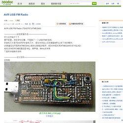AVR USB FM Radio