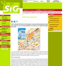 Avril 2013: OSM met la gomme