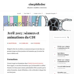 Avril 2015 : séances et animations du CDI