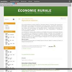 """Dossier """"Agriculture indienne"""", Revue Economie rurale, juin 2016"""