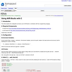 AVRStudio - tomasxvi - A brief tutorial - Wiki