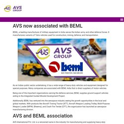 AVS now associated with BEML