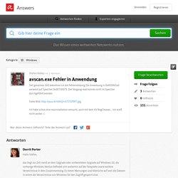 avscan.exe Fehler in Anwendung - Avira Answers