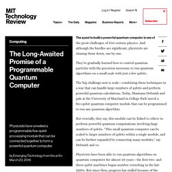 The Long-Awaited Promise of a Programmable Quantum Computer
