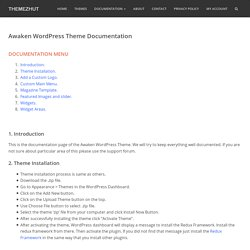 Awaken WordPress Theme Documentation