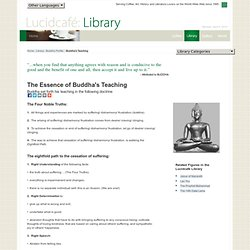 Buddha (The Awakened One) | The Essence of Buddha's Teaching