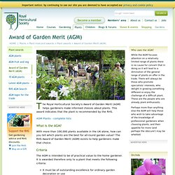 Award of Garden Merit (AGM)