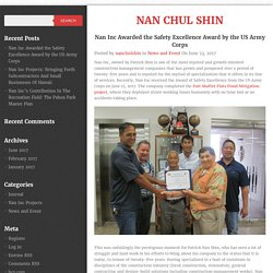 Nan Inc Awarded the Safety Excellence Award by the US Army Corps