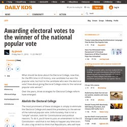 DKos- Awarding electoral votes to the winner of the national popular vote
