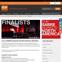 SABRE Awards North America 2015 Finalists