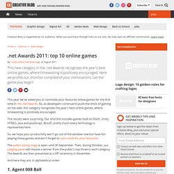 .net Awards 2011: top 10 online games