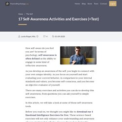 17 Self-Awareness Activities and Exercises (+ Test)