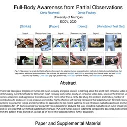 Full-Body Awareness from Partial Observations