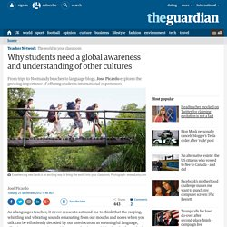 Why students need a global awareness and understanding of other cultures