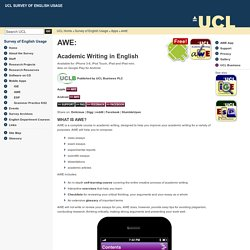 AWE App @ UCL Survey of English Usage