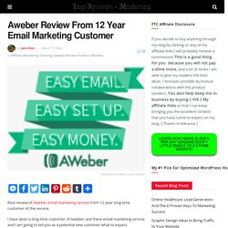 Aweber Review From 12 Year Email Marketing Customer 26 June 2020
