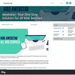Awebstar- Your One Stop Solution for all Web Services