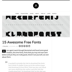 15 Awesome Free Fonts