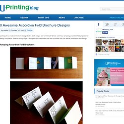8 Awesome Accordion Fold Brochure Designs