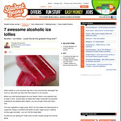 7 awesome alcoholic ice lollies
