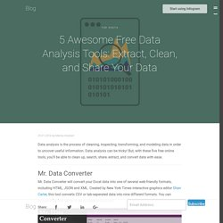 5 Awesome Free Data Analysis Tools: Extract, Clean, and Share Your Data