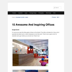 15 Awesome And Inspiring Offices | The Roxor | Design blog for resources and inspiration