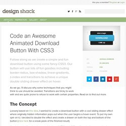 Code an Awesome Animated Download Button With CSS3