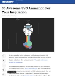 30 Awesome SVG Animation For Your Inspiration