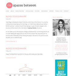 In Spaces Between | awesome blogs