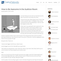 How to Be Awesome In the Audition Room - Casting Networks Blog