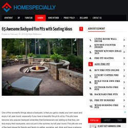 65 Awesome Backyard Fire Pits with Seating Ideas - HomeSpecially