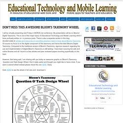 No se pierda la rueda Taxonomía de Bloom Este impresionante ~ Tecnología Educativa y Aprendizaje Móvil