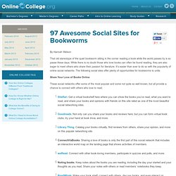 100 Awesome Social Sites for Bookworms | Online College Tips - O