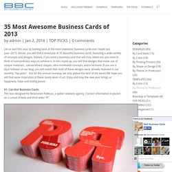 35 Most Awesome Business Cards of 2013