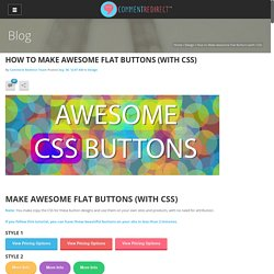 How to Make Awesome Flat Buttons (with CSS) - Comment Redirect