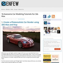 16 Awesome Car Modeling tutorials for 3ds Max