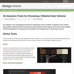 25 Awesome Tools for Choosing a Website Color Scheme