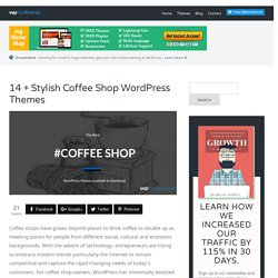 14+ Awesome Coffee Shop WordPress Themes