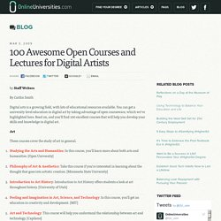 100 Awesome Open Courses and Lectures for Digital Artists