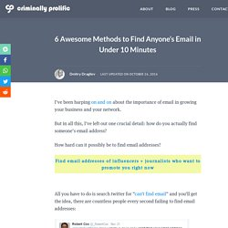 6 Awesome Methods to Find Anyone's Email in Under 10 Minutes