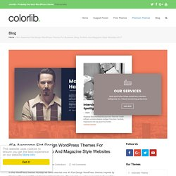 40+ Awesome Flat Design WordPress Themes 2015 - Colorlib