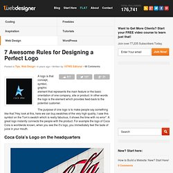 7 Awesome Rules for Designing a Perfect Logo