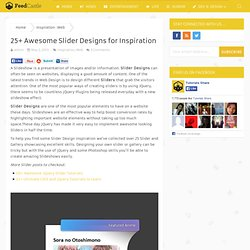 25+ Awesome Slider Designs for Inspiration