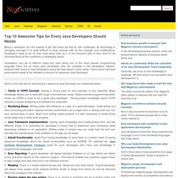 Top 10 Awesome Tips for Every Java Developers Should Needs