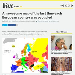 An awesome map of the last time each European country was occupied